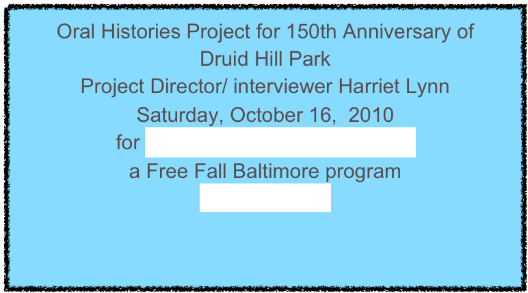 Oral Histories Project for 150th Anniversary of 